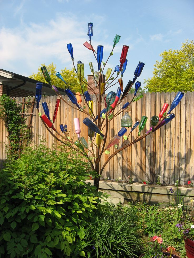 The history of bottle trees is pretty interesting.                                                                                                                                                                                 More