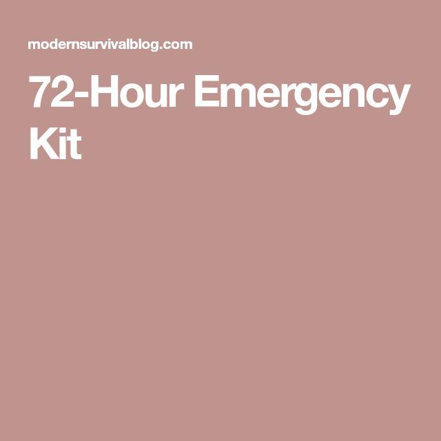 72-Hour Emergency Kit