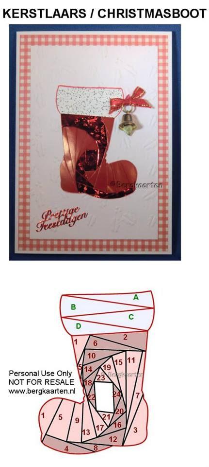 Irisvouwen: Christmas Boot