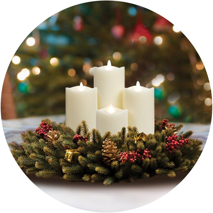 Decorate for Christmas with these beautiful 360 degree view LED Candles from Reallite. Buy them here: http://www.ebay.ca/itm/Reallite-Wavy-Top-Vista-Real-Wax-Flicker-Flameless-LED-Candle-Moves-Randomly-/201051178750?