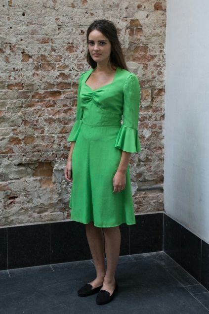 Appeltjes groene jaren 60 jurk