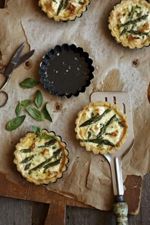Gorgeous asparagus tarts by HERS food stylist Sara De Iulio with photographer Martin Poole