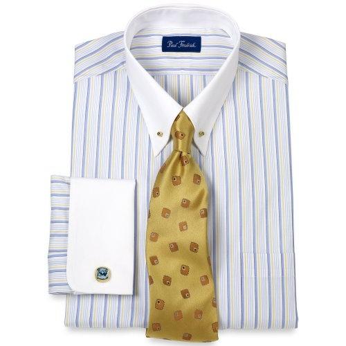 Paul fredrick luxury 140s eyelet collar french impulse for Mens eyelet collar dress shirts