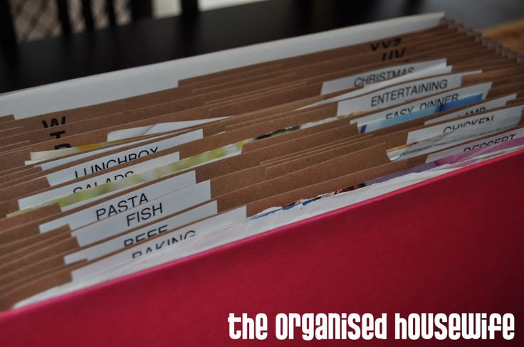{Organising} Recipes you are wanting to try » The Organised Housewife