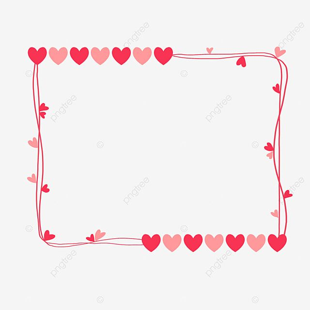 Heart Heart Border Valentine Valentine S Day Romantic Love Png Transparent Clipart Image And Psd File For Free Download Valentines Day Doodles Valentine Clipart Valentines Day Border