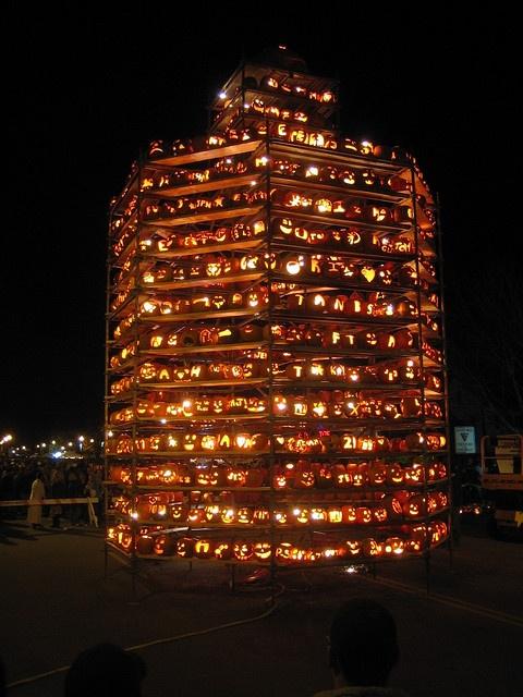 Keene, New Hampshire Pumpkin Festival. Late October, thousands of pumpkins