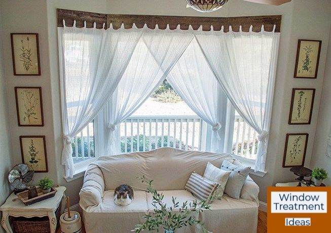 If You Ve Got A Small Space Opt For Slim Blinds That Ll Still Let Natural Light In With Images Window Treatments Living Room Bay Window Living Room Farm House Living Room