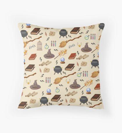 Potterhead pattern Throw Pillow