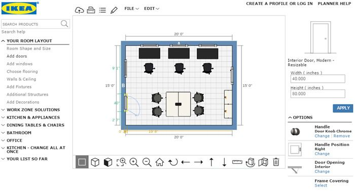 Office Planner Free Online Layout Tool Room Layout Design Room Layout Planner Office Planners
