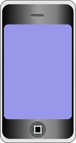 Graphiques vectoriels de téléphone portable avec grand écran