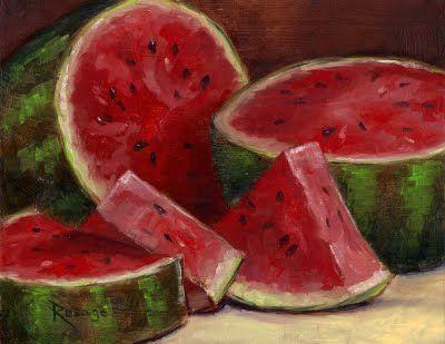 "Watermelon paintings   Artistic Release: ""Alla Prima"" Paintings by Bernie Rosage Jr.: August ..."