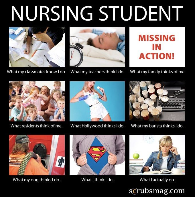 Nursing Student. What people think Nursing Students do! #meme #internet #lol