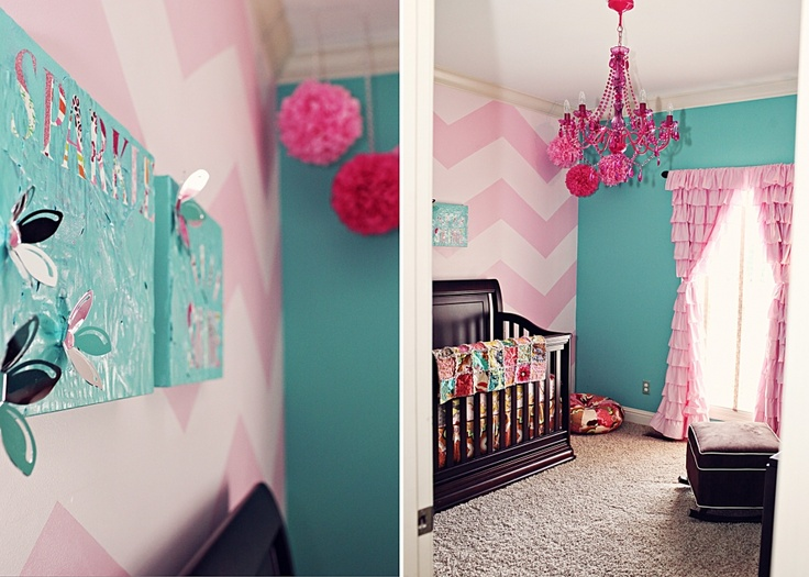 Going to do Mad's walls in light/med pink chevron... so cute! :)