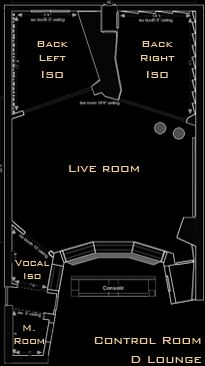 studio d floorplan recording studio designmusic - Home Recording Studio Design Plans