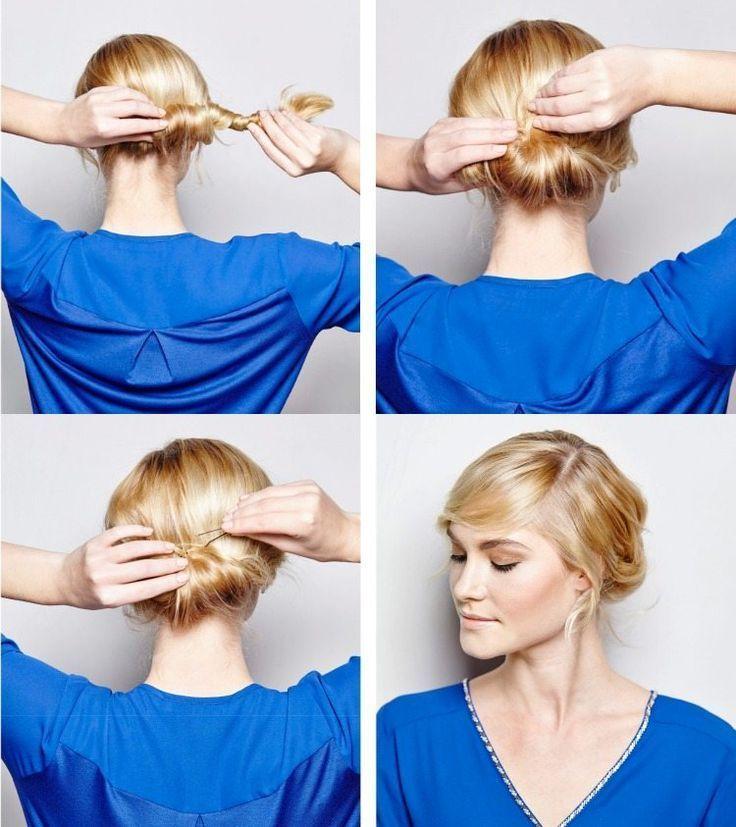 Attachez les cheveux autour du cou et enveloppez-les