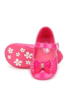 Hopscotch | Buy Kittens Shoes Girls Belly Shoes Belly Beadsbow - Fuschia on Hopscotch.in in India