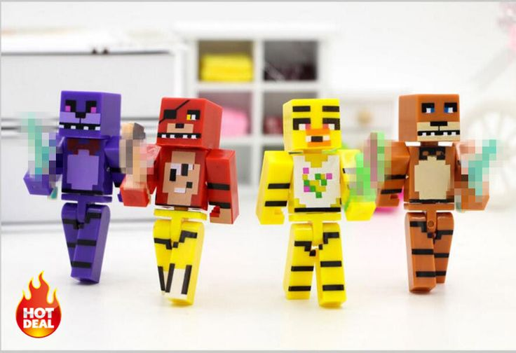 4pcs/set Minecraft Five Nights At Freddy's 4 //Price: $13.00 & FREE Shipping //     #follow