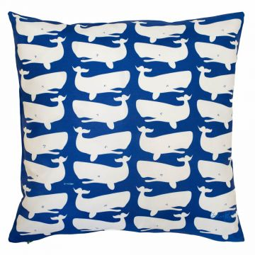 White whales on blue- fun paired with the blue whales on white!