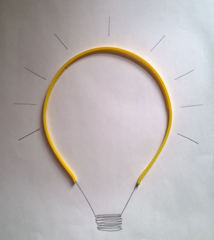 Illustrations. The hairband light bulb. :)