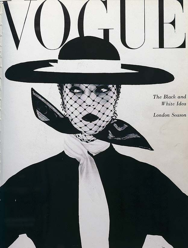 Vogue: The black and white issue June 1950. The model is Jean Patchett, the first supermodel... photograph by Irving Penn