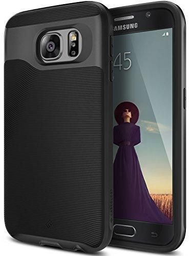 Galaxy S6 Case Caseology [Wavelength Series] Slim Ergonomic Ripple Design [Black] [Modern Grip] for Samsung Galaxy S6