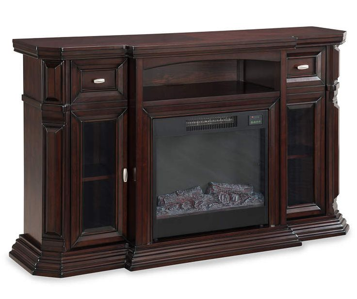"""60"""" Espresso Console Electric Fireplace at Big Lots."""
