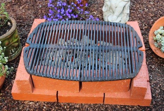 How to Make Your Own Temporary Brick Grill