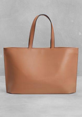 Minimal + Classic: Leather tote
