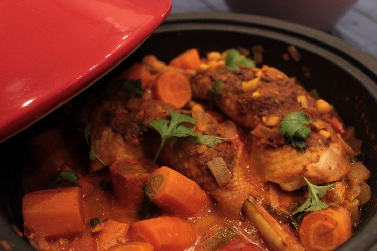 Tajine met kip, kikkererwten en wortel | Van Eigen Kweek
