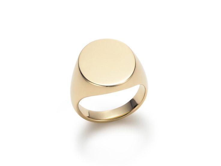 Mens Signet Rings - Gold
