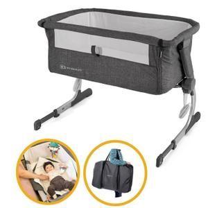 Super Lit pour bébé UNO 2en1 de la marque KinderKraftLe lit Uno 2 en 1 peut être fixé au lit des parents pour des nuits plus sereines durant les premiers mois. Il peut être facilementdéplacédans le salon durant la journée pour garder le bébé prés de vous.Le berceau peut aussi être ajusté en haute