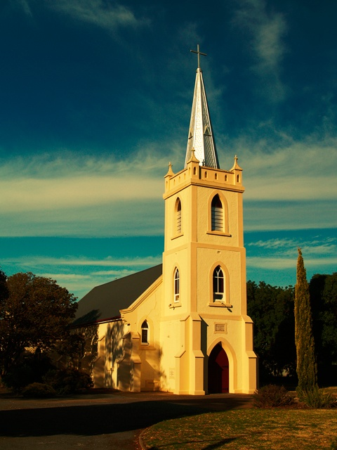 Light Pass Church. Barossa Valley, South Australia. Image © Dragan Radocaj Photography.