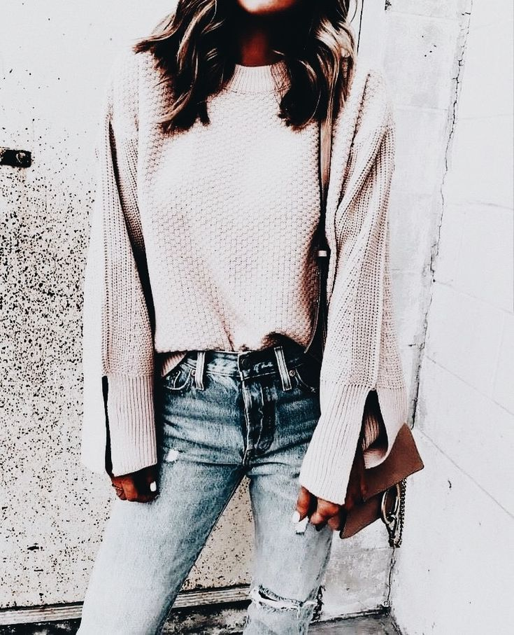 The sweaters are amazingly soft. And the jeans are just great they have that looked in, lived in look. Plus the color is a soft grayish-white that looks amazing on everyone