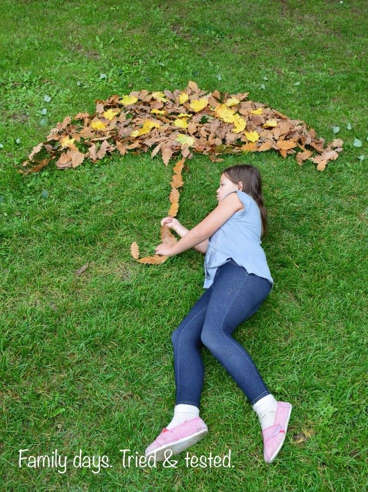 Create extra props to photos using leaves... Art Attack style ;)