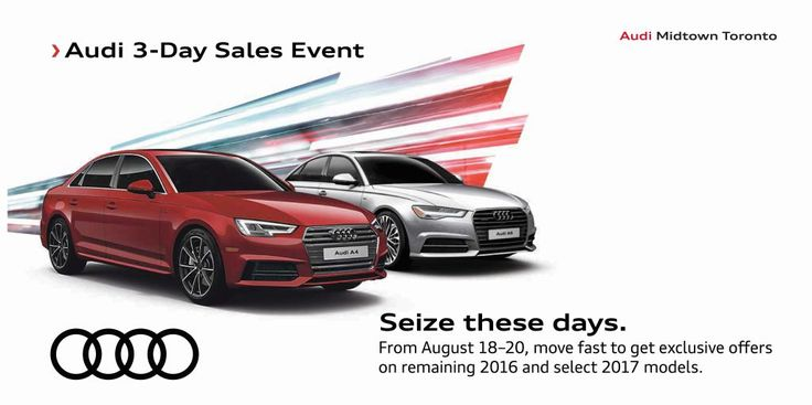 Audi | Sales Event | Seize these days.