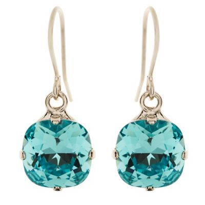 Light turquoise cushion drop earrings at debenhams.com