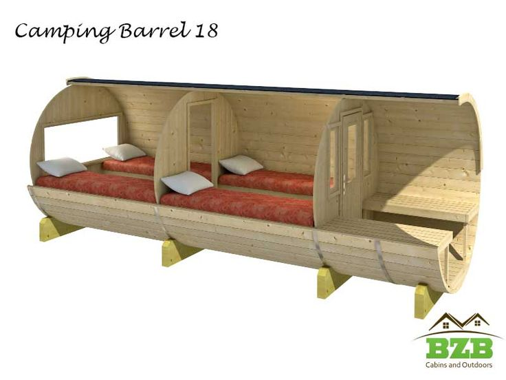 BZB Cabins And Outdoors DYI Camping Barrel 18