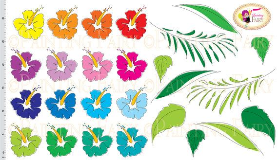 Digital Clipart Hawaiian Hibiscus Tropical Flowers Embellishments Doodle Scrapbooking Hand Draw DIY Personal & Commercial Use  by PaintingFairyClipart, $3.99  Everything Else Graphic Design handmade invitations designer resource cu printable clip arts green blue purple vivid colors wedding pink colorful plants aloha hawaii nature fun blossom hula happy vacation party summer decoration doodle orange yellow palm doodle cliparts leaf leaves images