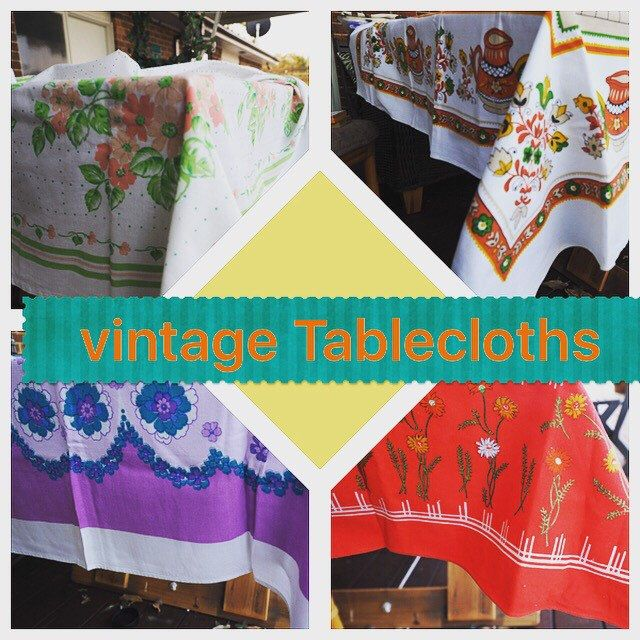 I just love ❤️ Vintage table linens, The feel of the fabric and the colours are so beautiful. Lots in stock