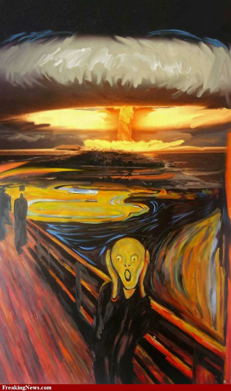 The Scream Painting with Nuclear Explosion pictures