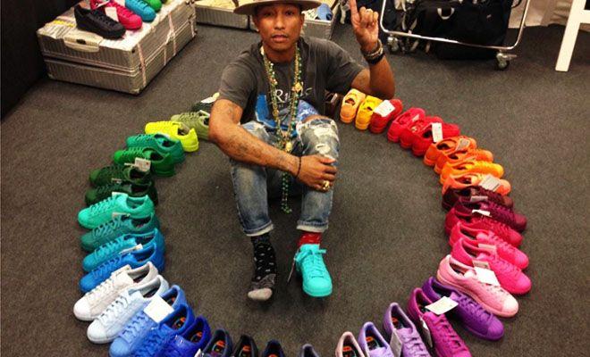 Adidas x Pharrell: kies uit 50 kleurrijke Superstar sneakers!