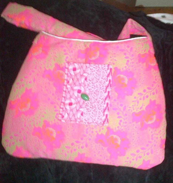 Fancy Fuchsia Shweshwe Print - 100% cotton handbag.