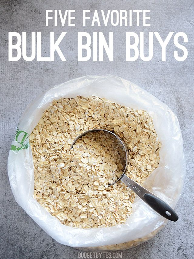 the best things to buy from bulk bins.