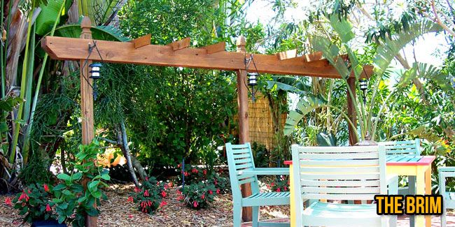 2 Post Pergola Google Search Pergola Diy Pergola