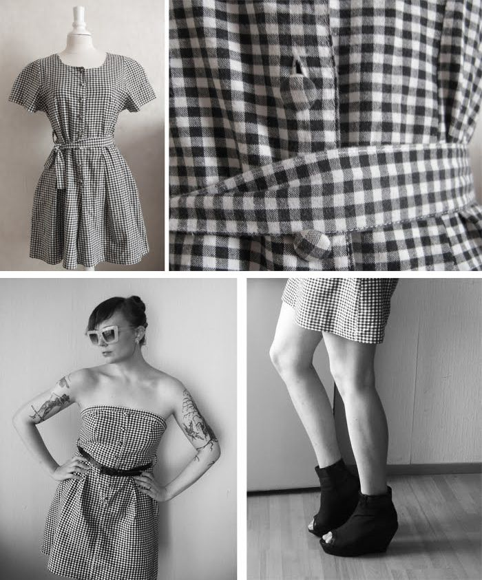 From overall to dress http://diy-showroom.com/ullariikka/oldies-dresses-and-laces/