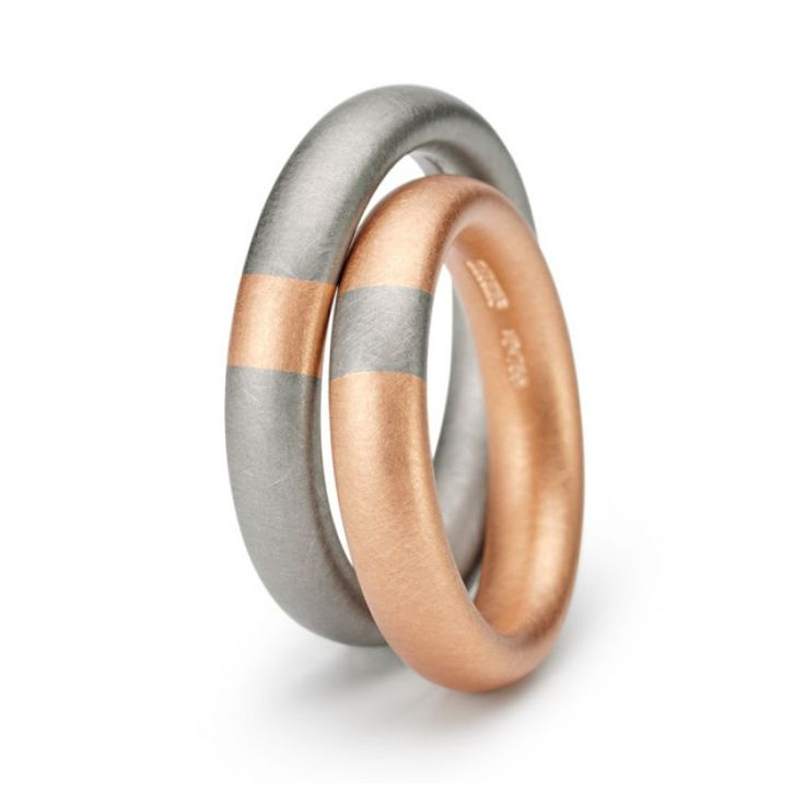 Tecum Ring by Niessing - Grey/Red Gold