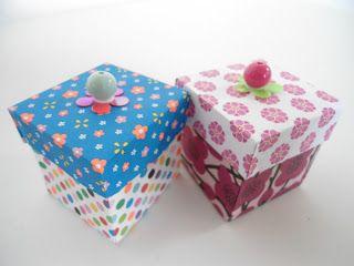 Mig og Maya: Små foldede gaveæsker- med vejledning