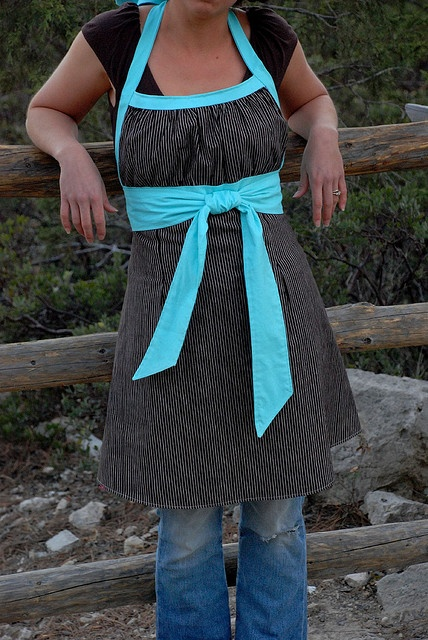 Emmeline Apron for Tie One On Polka Dots by sew liberated, via Flickr  This apron is so cute. I could make this.