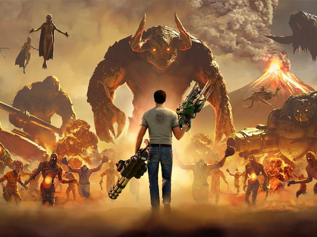 Collection Of Serious Sam 4 Planet Badass Hd 4k Wallpapers Background Photo And Images Serious Sam 4k Background Hd Wallpaper 4k