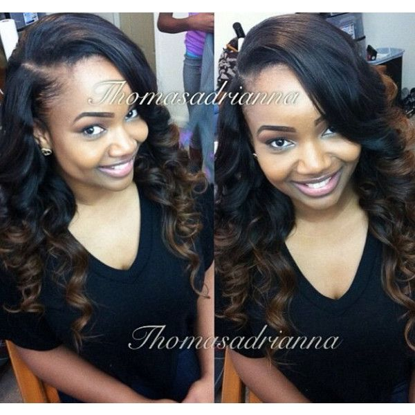 17 best sew ins images on pinterest makeup black and boot outfits celebrity sew in hairstyles black women liked on polyvore featuring hair pmusecretfo Images
